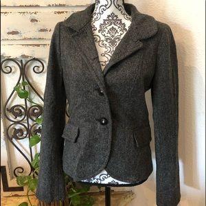 J crew wool blazer with faux pockets
